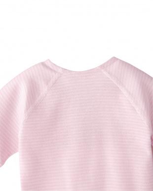 ピンク ボーダ― ワンタッチ肌着見る