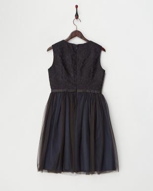ブラック オーガンジーレースドレス見る