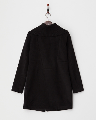 BLACK  JAIMY BONDED MIX CLOTH LONG JACKETS見る
