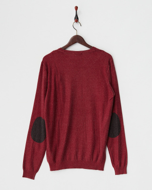 BRICK RED  NILL WINTER/S PRINTED MIX VISCOSE KNITWEAR見る