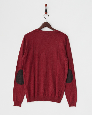 BRICK RED  NILL WINTER CARD/S PRINTED MIX VISCOSE KNITWEAR A見る