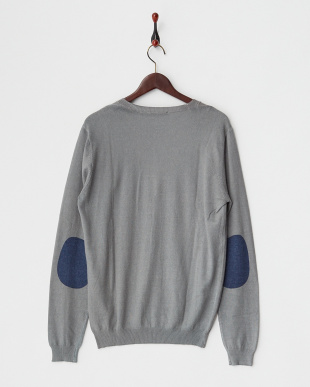 MEDIUM GRAY  NILL WINTER CARD/S PRINTED MIX VISCOSE KNITWEAR A見る