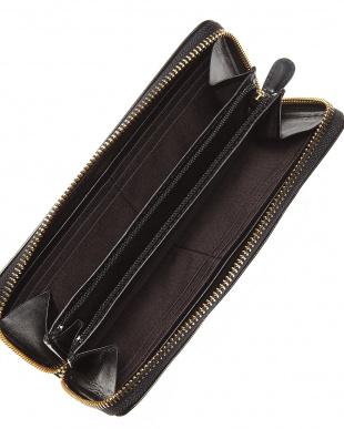 ブラック  ラウンドファスナー財布見る