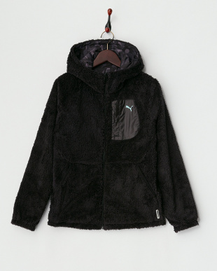 BLACK  I like PUMA リバーシブルボアジャケット見る