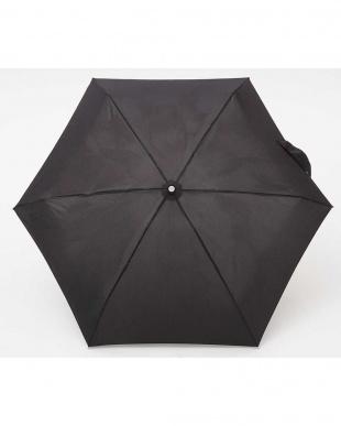 ブラック  totes line Mini Manual 手動開閉折りたたみ傘見る