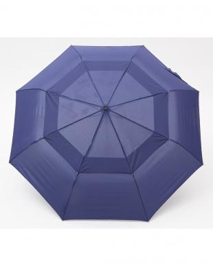 ネイビー  Vented Canopy 3 sec AOC 自動開閉折りたたみ傘見る