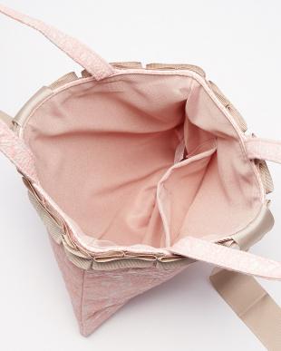 ピンク  Lilac 刺繍サブバッグ+袱紗見る