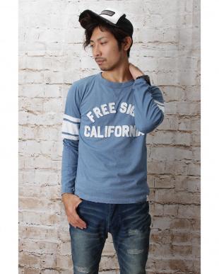 ダークインディゴ  『FREE SIGN CALIFORNIA』アップリケロンTee見る