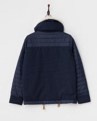ネイビー JASMIN JK 中綿入りジャケット見る