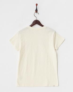 ネイビー  FABRIC PRINT 半袖Tシャツ見る