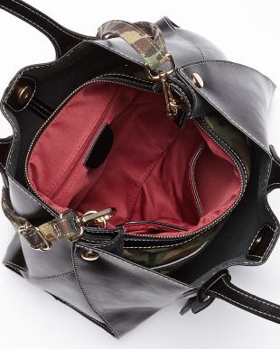 ブラック  バッグインバッグ付きトートバッグ見る