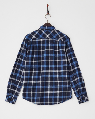ブルー  ネルチェックシャツ見る