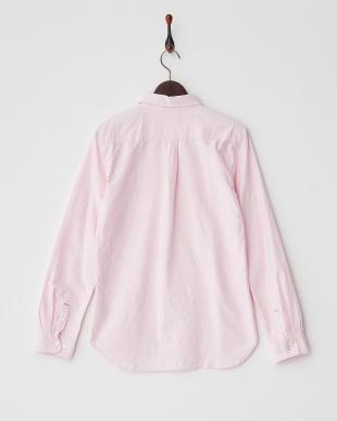 ピンク  オックスボタンダウンシャツ見る