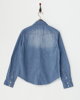 ブルー Denim Work Shirt見る