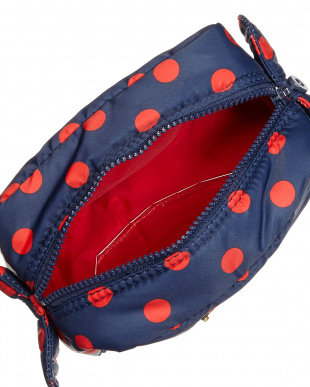 Small Dots Nevy/Red  Pouch見る