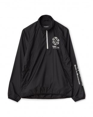ブラック  タータンチェック半袖ブルゾン+長袖ジップシャツ見る