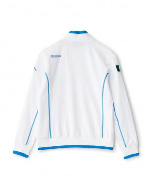 ホワイト  「ITALIA」ロゴ トラックジャケット見る