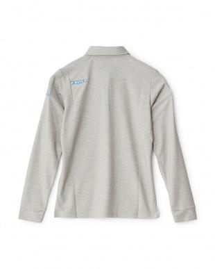 グレー  「ITALIA」ロゴ ロングスリーブシャツ見る