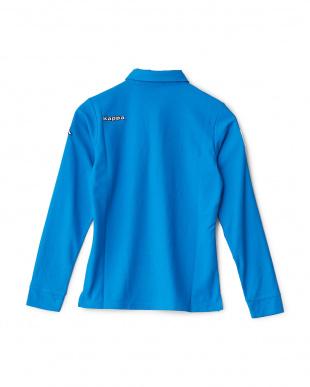 イタリアンブルー  「ITALIA」ロゴ ロングスリーブシャツ見る