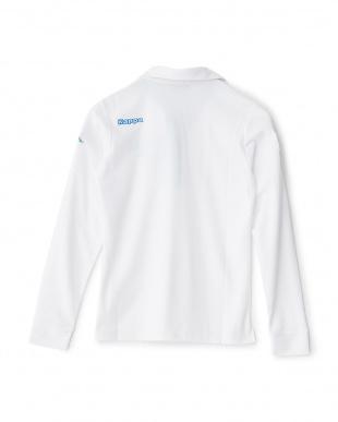 ホワイト  「ITALIA」ロゴ ロングスリーブシャツ見る