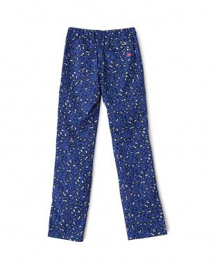 ブルー系  レオパード柄中綿パンツ見る