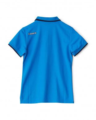 イタリアンブルー  ライン入り半袖シャツ見る