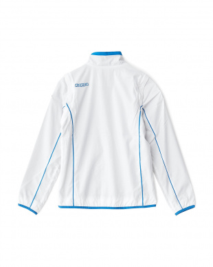 ホワイト  袖着脱式 「ITALIA」ロゴ ブルゾン見る