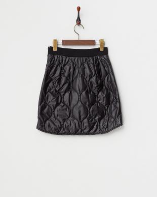 ブラック  ラウンドラインキルトスカート見る