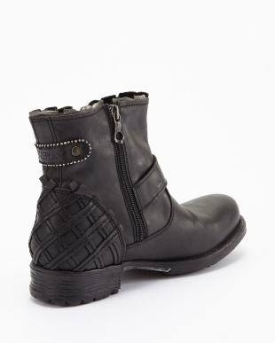 BLACK SILVER  SOUP ANKLE BOOT見る