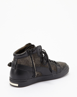 BLACK DK GREY CLAN MID CUT SHOES見る