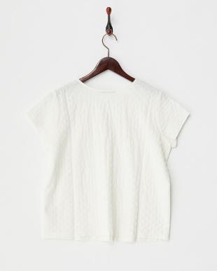 オフホワイト キルティング半袖Tシャツ見る