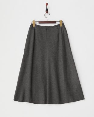 グレー  ウールフレアスカート見る
