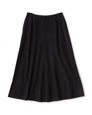 ブラック  ウールフレアスカート見る