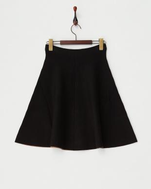 BLACK  フレアニットスカート見る
