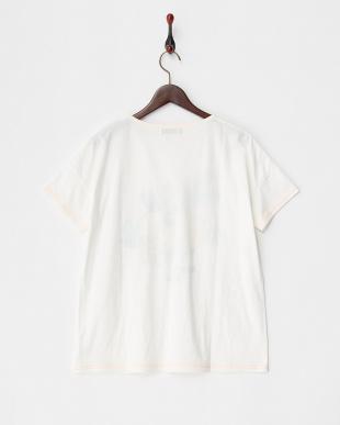 ホワイト  トロピカルクルーネックTシャツ見る
