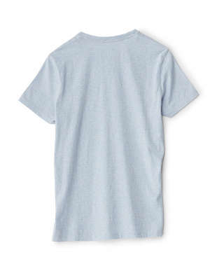 ブルー  ロゴTシャツ見る