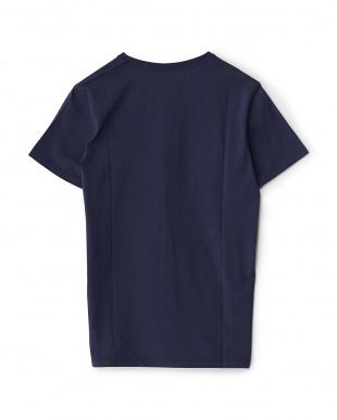 ネイビー  ロゴTシャツ見る