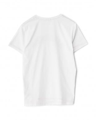 ホワイト  ロゴTシャツ見る