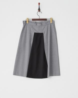 グレー×ブラック テールスカート見る