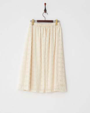 ECRU レタースカート見る