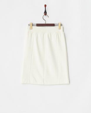 オフホワイト キルトジャカード切り替えスカート見る