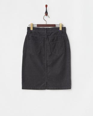 チャコール ビンテージ風コーデュロイタイトスカート見る