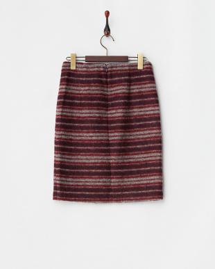 ワイン系 Mac&Co. スライバーニットスカート見る