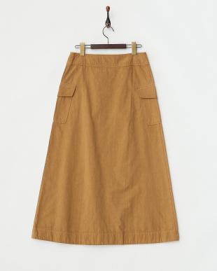 ブラウン  ロングポケットスカート見る