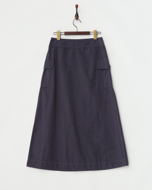 ネイビー  ロングポケットスカート見る