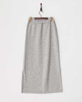 グレー  ロングスリットスカート見る