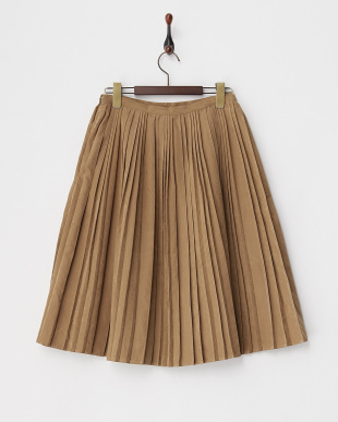オリーブ  スエード調ランダムプリーツスカート見る