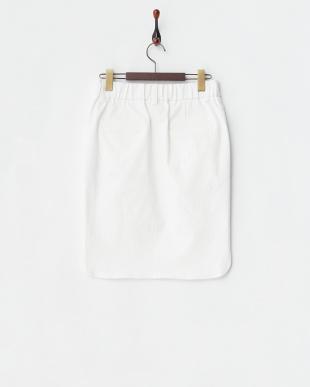 ホワイト ストレッチデニムタイトスカート見る