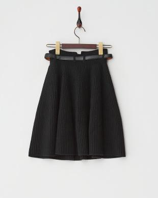 ブラック  ニットスカート見る
