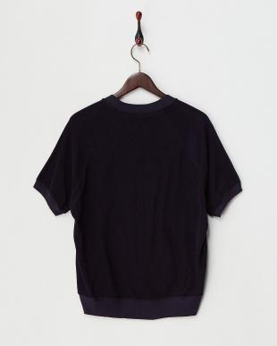 ダークネイビー  FilMelange パイル半袖Tシャツ見る